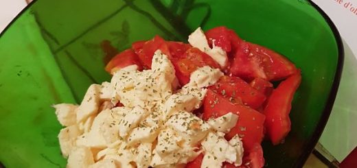 salade simple : tomates mozarella